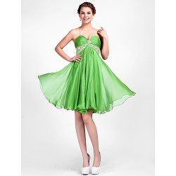 Australia Formal Dresses Cocktail Dress Party Dress Clover Plus Sizes Dresses Petite A-line Princess Halter Sweetheart Short Knee-length Chiffon